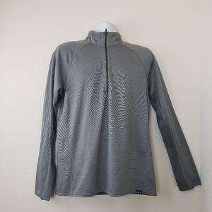 Patagonia Mens Pullover Gray 1/4 Zip Polartec Long